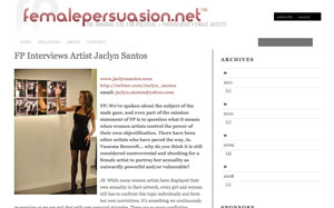 Interview artist Jaclyn Santos