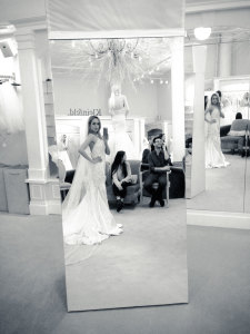 Jaclyn Santos Modeling Behind the scenes at Kleinfeld Bridal New York Say Yes to the Dress TLC