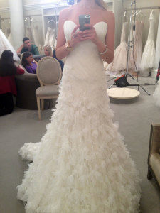 Jaclyn Santos Modeling Mark Zunino for TLC's hit TV show Say Yes to the Dress