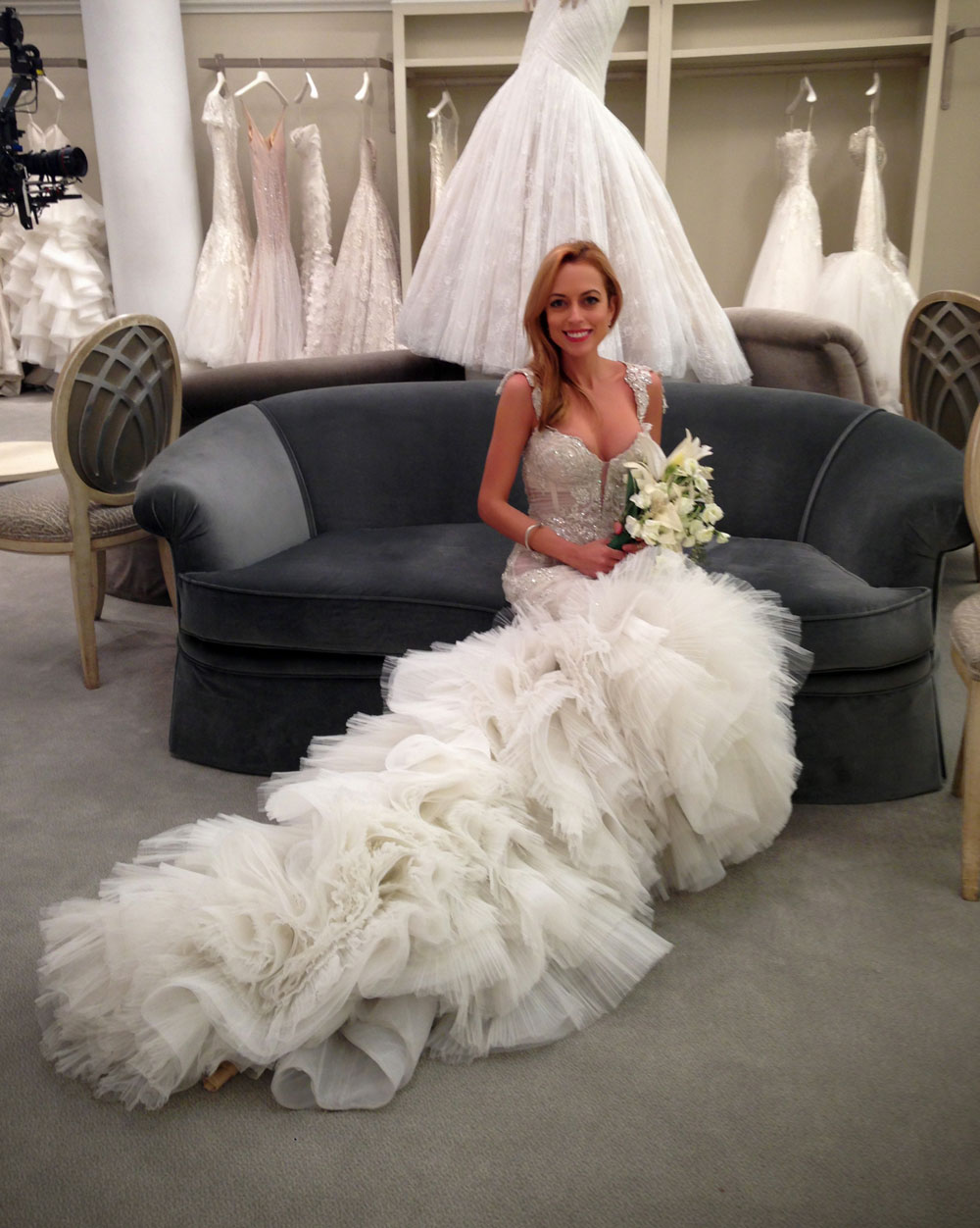Jaclyn Santos Modeling Pnina Tornai For Tlc Tv Show Say Yes To The Dress